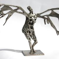 In front of the sun  2016 Soldered and silvered bronze, unique piece - Height : 9,44 in