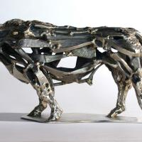 Silver bull 2017 Soldered and silvered bronze - Height : 6,88 in