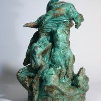 Column of women  1989 Patinated terra cotta - Height : 16,73 in