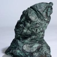 The Bishop  1990 Patinated terra cotta - Height : 5,51 in