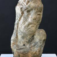 Man's head  1989 Plaster - Height : 12,59 in