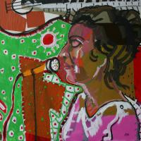 My jazz -Vivian 2010 Acrylic and collage on canvas