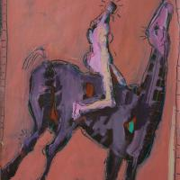 Woman and horse I 1998 Acrylic on paper
