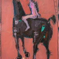 Woman and horse II 1998 Acrylic on paper