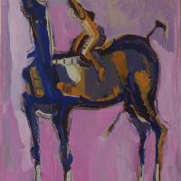 Woman and horse 2000 Acrylic on paper