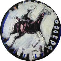 Woman and horse I 1998 Acrylic on wood