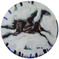 Woman and horse IV 1998 Acrylic on wood