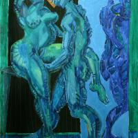 Couple with mirror 1993 Oil on canvas