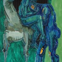 Couple and horse 1993 Oil on canvas