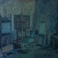 Blue interno IV 1986 Oil on canvas
