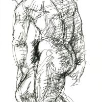 Study from Rodin 1988 Ink on paper