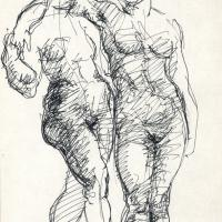 Study from Rubens 1986 Ink on paper