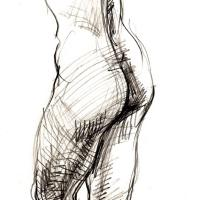 Standing nude 1990 Pencil on paper