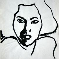 Laura III 1987 Chinese ink on paper