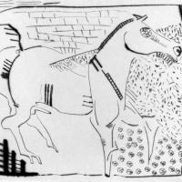 Series Me and my horse 1991 Drypoint etching - Edition of 20