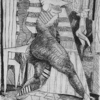 Dancer 1988 Drypoint etching - Edition of 10